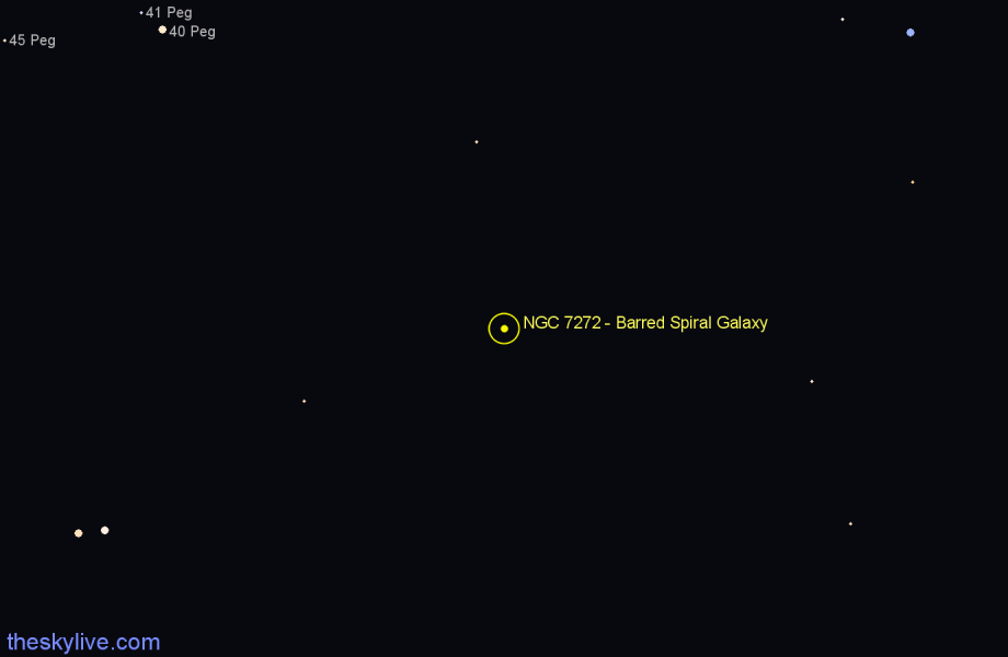 Finder chart NGC 7272 - Barred Spiral Galaxy in Pegasus star