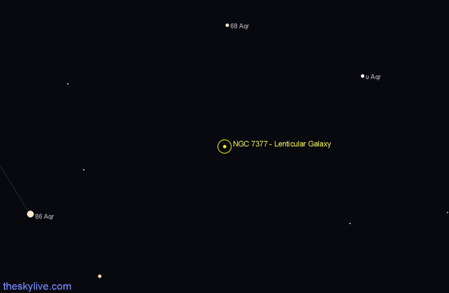Finder chart NGC 7377 - Lenticular Galaxy star