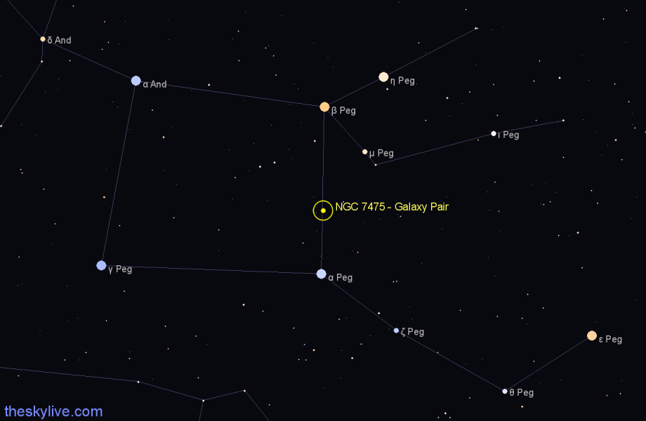 Finder chart NGC 7475 - Galaxy Pair star