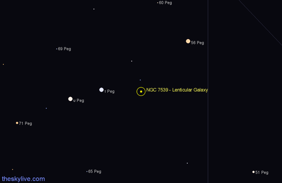 Finder chart NGC 7539 - Lenticular Galaxy star