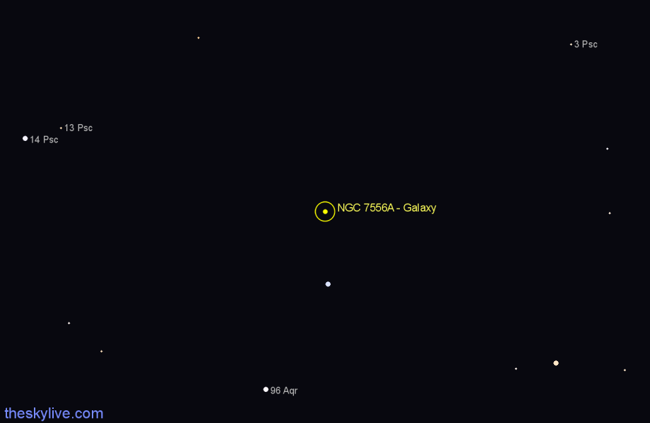 Finder chart NGC 7556A - Galaxy star