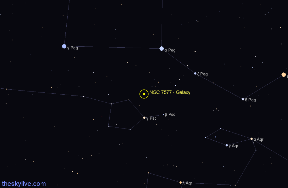 Finder chart NGC 7577 - Galaxy star