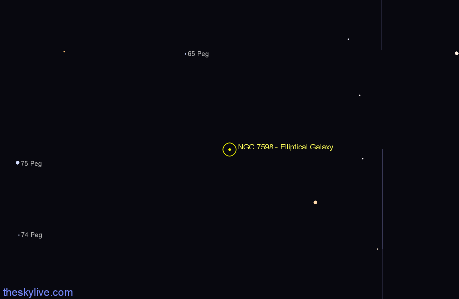 Finder chart NGC 7598 - Elliptical Galaxy star
