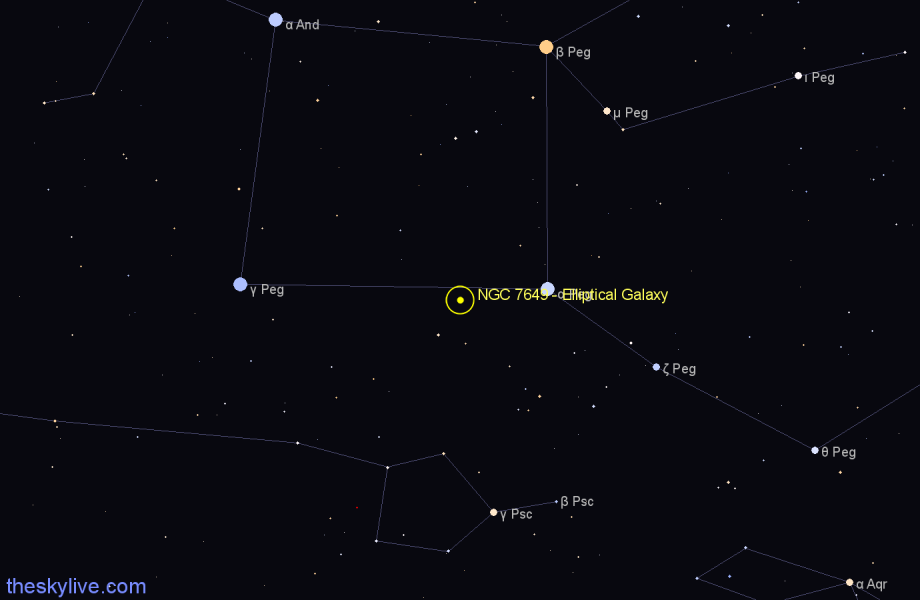 Finder chart NGC 7649 - Elliptical Galaxy star
