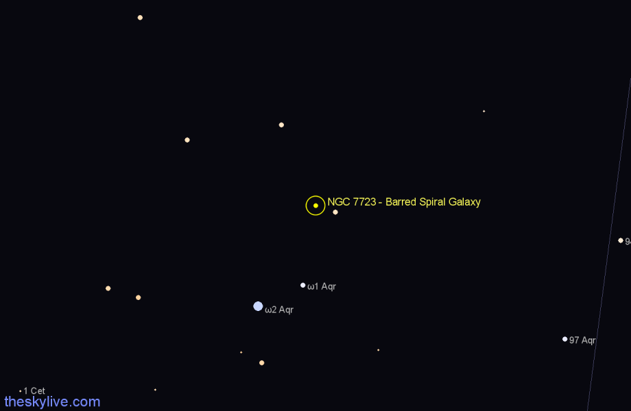 Finder chart NGC 7723 - Barred Spiral Galaxy star