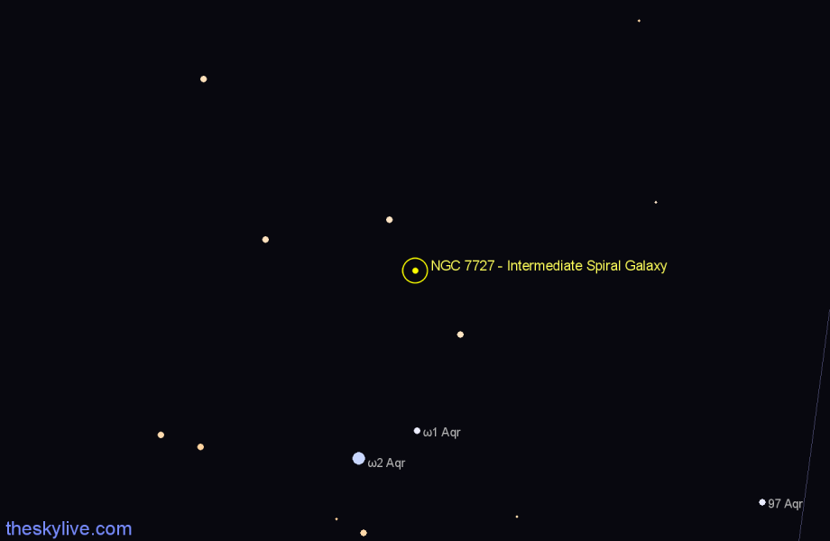 Finder chart NGC 7727 - Intermediate Spiral Galaxy star