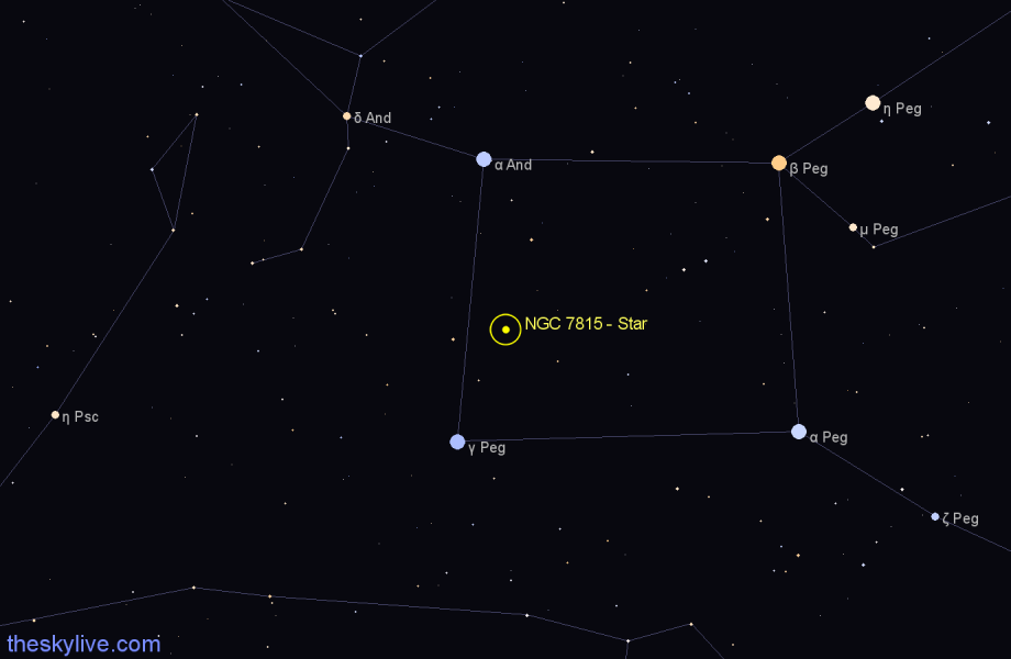 Finder chart NGC 7815 - Star in Pegasus star