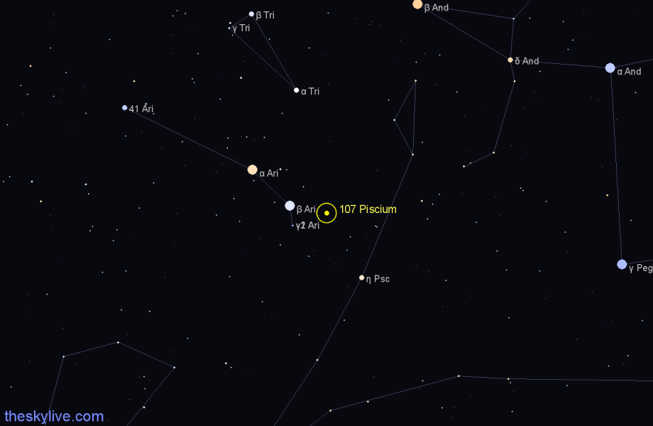Finder chart 107 Piscium star