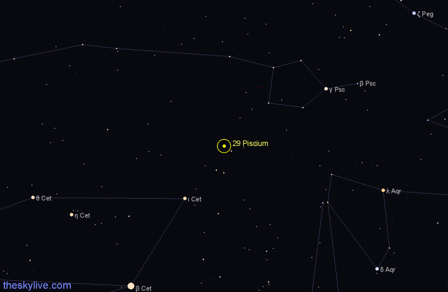 Finder chart 29 Piscium star