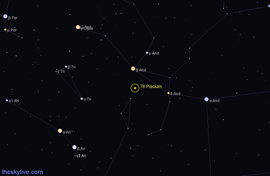 Finder chart 78 Piscium star